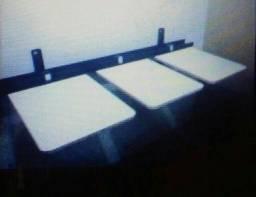 Serigrafia mesa com 3 berços parede completa pronta para uso