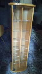 Porta CDs Torre de madeira