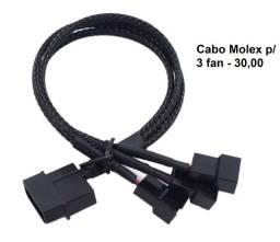 Cabo extensor molex p/ 3 fan cooler (30,00) / cabo p/ 5 fan (40,00)