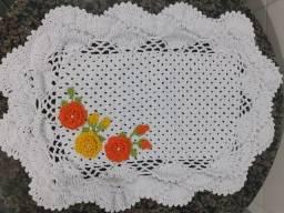 Tapete de croche (kit de cozinha com 5 peças)