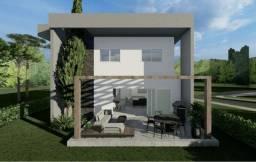 Casa em construção no Alphaville Pernambuco 2 com boa ventilação