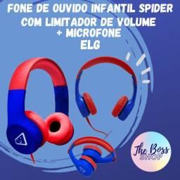 Fone De Ouvido Infantil Spider Com Limitador De Volume ELG