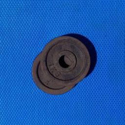 Kit 18 Anilhas de ferro de 1kg