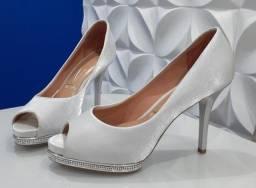 Sapato alto prata nº38