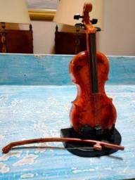 Violino miniatura com arco e som