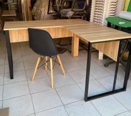 Mesa em L * escrivaninha estilo industrial