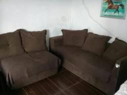 Vendo sofá de canto semi-novo