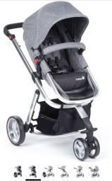 Carrinho bebê e bebê conforto marca safety pouco uso