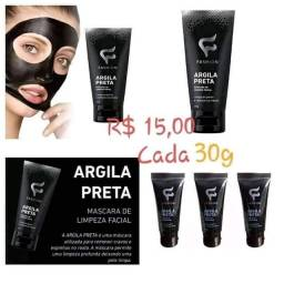 Mascara facial preta fashion