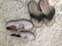 Tênis e sandália infantil num 31