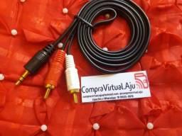 Cabo de áudio auxiliar P2/ RCA