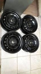 Título do anúncio: Jogo de Rodas aro 14 de ferro original Toyota Étios/Corolla
