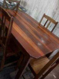 Vendo Mesa macacauba 4 cadeiras
