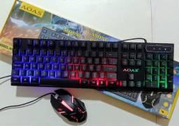 Kit Teclado e Mouse Gamer, Luminoso ( entrega Via motoboy)
