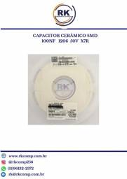 Capacitor Cerâmico Smd 100nf 1206 100 Pçs 50v X7r