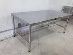 Mesa de inox 185x70x90 R$1.600