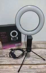 """Ring Light de Mesa 6"""" Polegadas 16cm C/ Suporte Para Celular"""