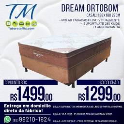 Conjunto Casal Ortobom Dream Super Pocket Molas Ensacadas! 12X Sem juros