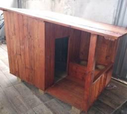 Casa de cachorro com varanda