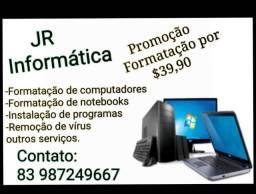 Promoção formatação de computadores e notebooks por 39,90