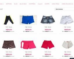 Lote, atacado de Shorts com 107 peças devido a fechamento de Loja Online Migles.com.br