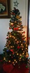 Árvore de Natal(1,80m)+enfeites +pisca-pisca de Led