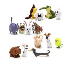 Pets A Vida Secreta Dos Bichos 14 Animais Bonecos Dog Cat Miniatura