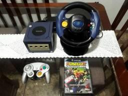 Nintendo Gamecube com 1 controle, Volante e Mario kart Double Dash!!