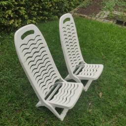 Conjunto 4 cadeiras piscina plástico