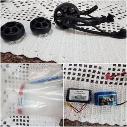 Wheelie bar HPI SAVAGE, almotolia e baterias