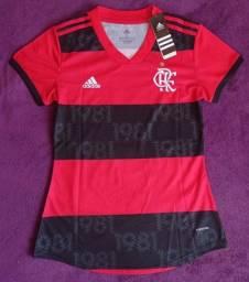 Camisa do Flamengo feminina rubro-negra (disponível: GG)