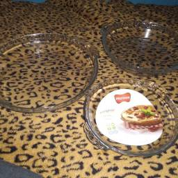 Kit torta formas de vidro marinex