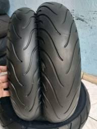 Par de pneu Michelin 140/110 cb300 fazer250 Twister cb500 ninja comet r3