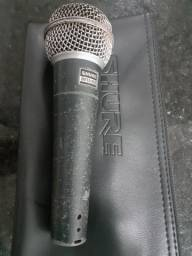 Microfone shure beta 58a usado funcionando