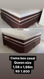 Cama box queen size 1,58 x 1,98