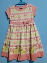 Vestido Menina Patinhos