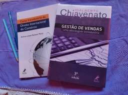 Livros Curso introdutório de direito internacional do comercio e Gestão de vendas
