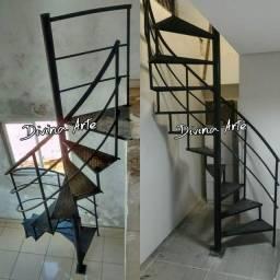 Escadas caracol PRONTA ENTREGA GALVANIZADA EM ATÉ 10 VEZES SEM JUROS