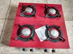 fogão de 4 bocas de mesa á gás