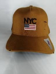 Boné masculino new york original com bandeira dos estados unidos.