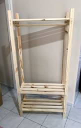 Closet maleiro cabideiro e sapateira