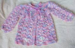 Conjunto casaquinho tricô recém nascido