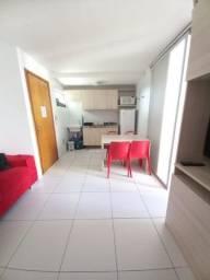 FM- Lindo Flat com quarto separado, totalmente mobiliado e decorado, Andar Alto!