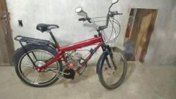 Bike motorizada original com freio traseiro de cubo