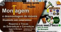 Montador De Moveis Em Geral.///Ligue (16) 9.8817-9833 ou Via Whatsap / Paulo