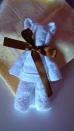 Lembrancinhas toalha formato urso