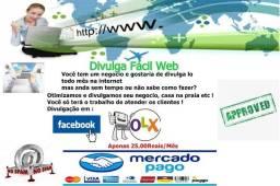 Divulgação de negocio na internet 25 reais mês