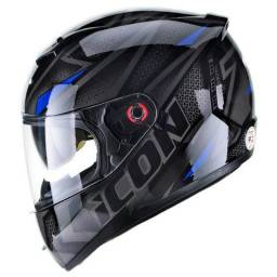 Capacete Icon Fast - Peels - Sistema Air On (antiembaçante)