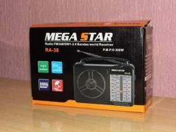 Radio Megastar am/fm/sw multi bandas 110/220v novo na caixa este tá valendo