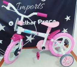 Bicicleta unicórnio aro 12 nova sem uso